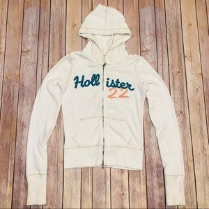 Hollister Womens zip up hoodie sweatshirt Sz L